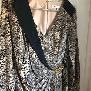 Trina Turk Dress 100% Silk Size 6